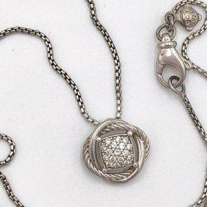 David Yurman Infinity Diamond Pendant Necklace